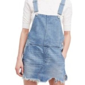 Free People Torn-Up Overall Skirt